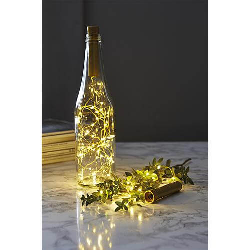 LED-Draht-Lichterkette 'Dew Drops' 15 ww LED messingfarben 728-14
