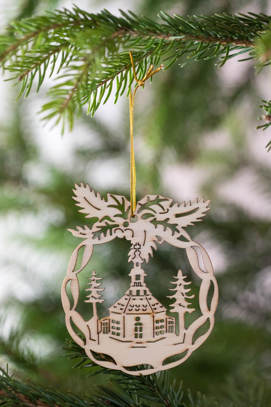 Weihnachtsbaumschmuck Seiffen Holz 8cm 4er Set