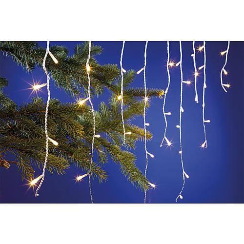 Eisregen-Lichterkette 140 warmweisse LEDs