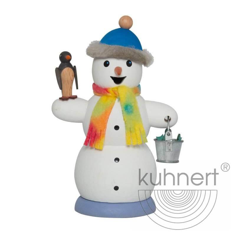Schneemann mit Pinguin Räuchermännchen 35024