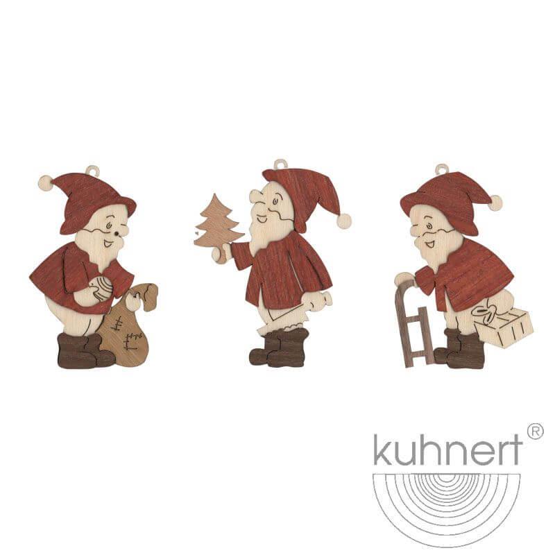Baumschmuck Weihnachtsmann 19317 1 Beutel mit 6 Stück = 1 SET