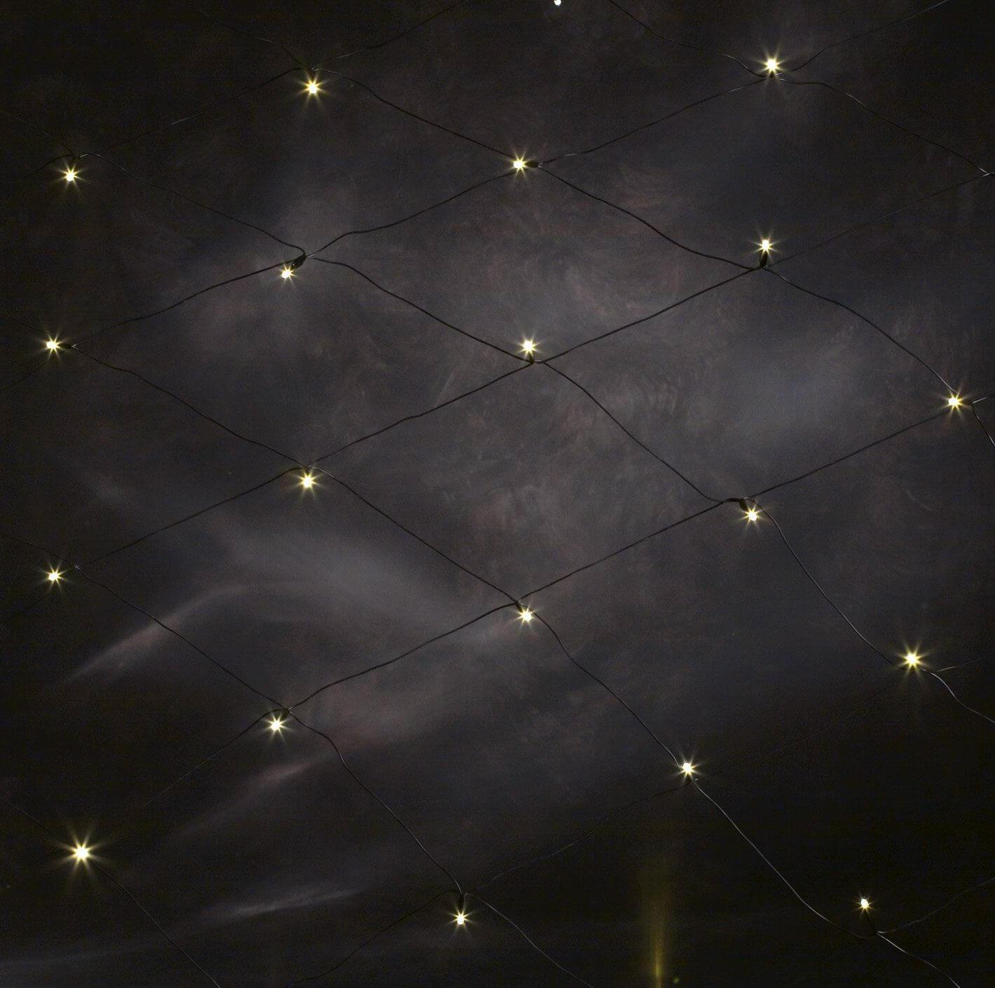 Konstsmide  3748-100 LED-Lichter-Netz 1x1m 32 LEDs warmweiß