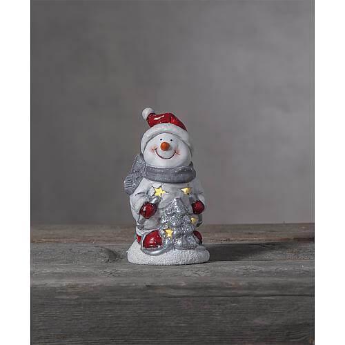 LED-Keramik-Figur 'Friends' Schneemann 991-15