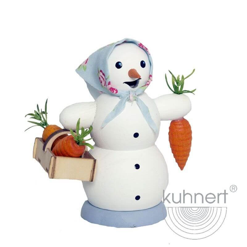 Schneefrau mit Möhrenkorb Räuchermännchen 35020