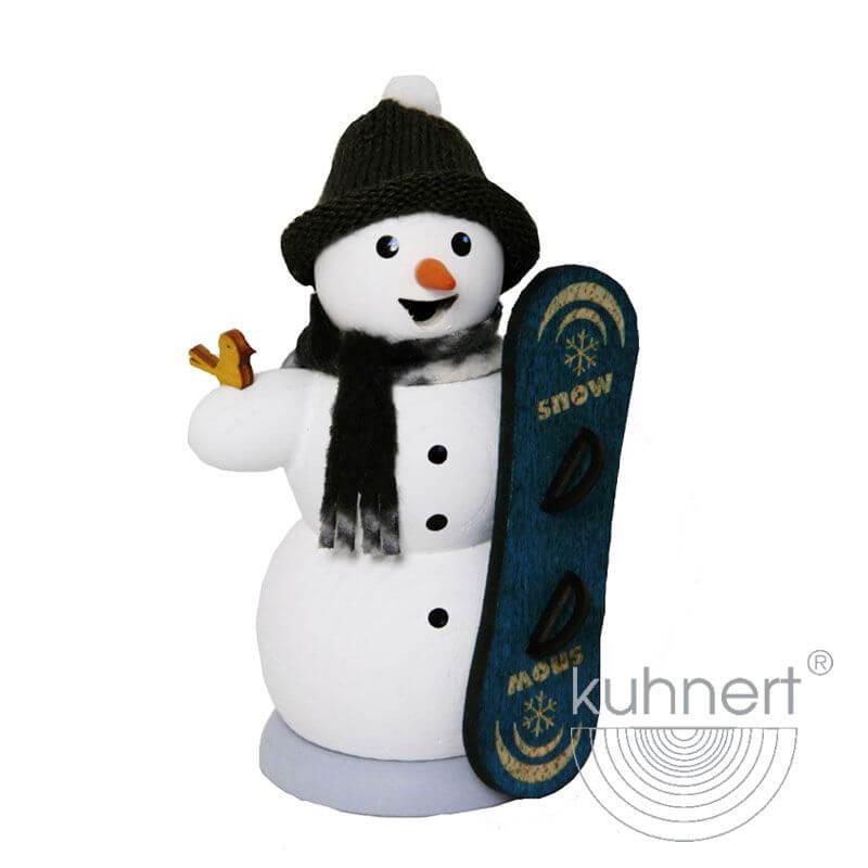 Schneemann mit Snowboard Räuchermännchen 35015