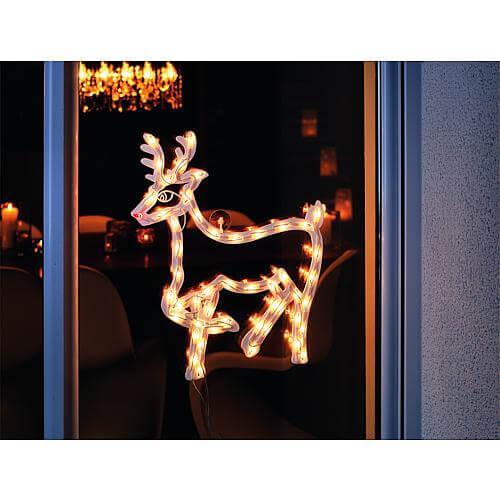 LED-Fenstersilhouette Rentier Konstsmide 2174-010