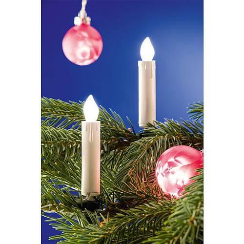 Innenkette mit LED-Kerzen 10 LEDs warmweiß