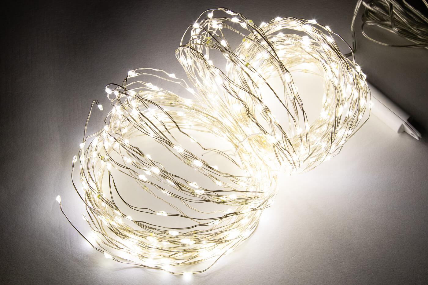 Micro LED-Lichtbündel mit Funkel Effekt 600 flg. Kaltweiss Lotti 48751