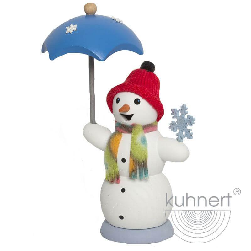 Schneemann mit Schirm Räuchermännchen 35017