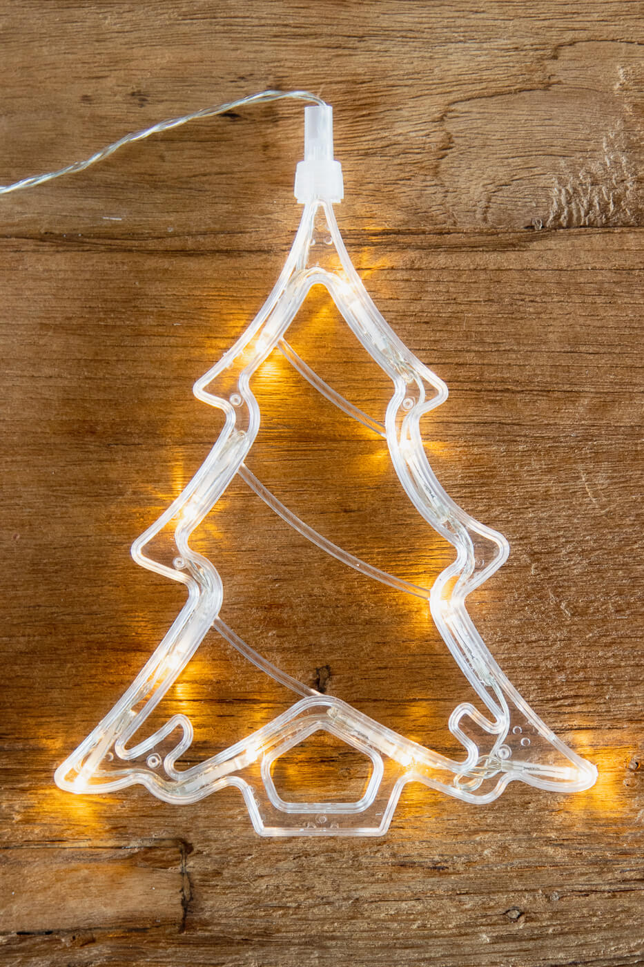 Fensterbild Weihnachtsbaum mit 10 LED