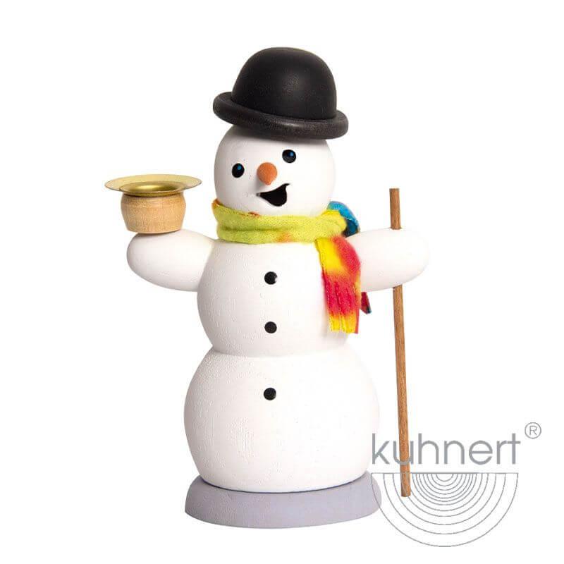 Schneemann mit Kerze Räuchermännchen 35013