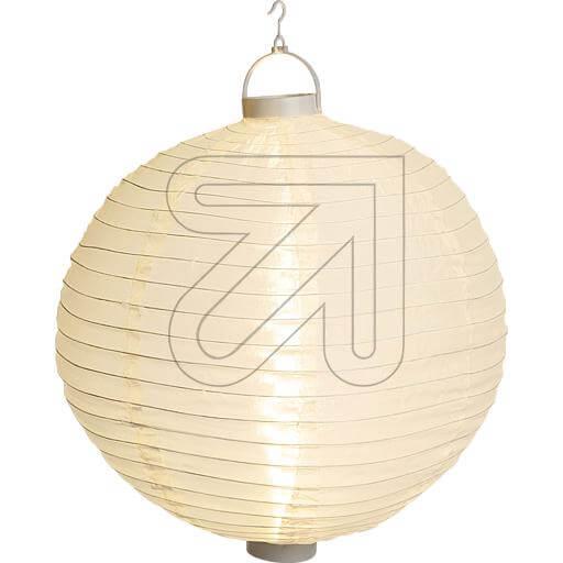 weisser LED Lampion 40cm mit warmweissen LEDs beleuchtet 38905