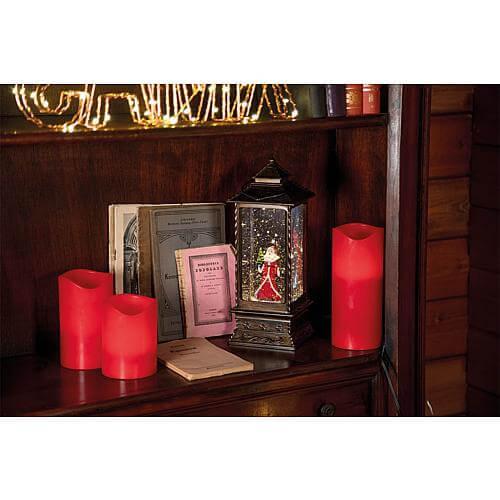 LED-Schneelaterne Weihnachtsmann 44760