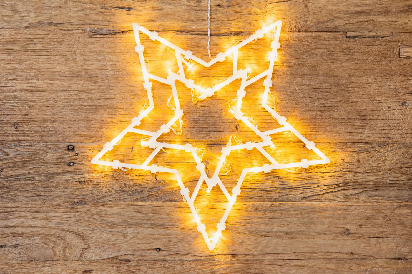 LED Fenster-Silhouette Stern