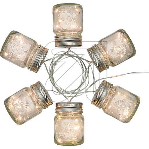 LED-Dekolichterkette Glas Ø 6x8cm 42506