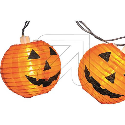 LED-Dekolichterkette Halloween-Kürbis Ø 8cm 35706