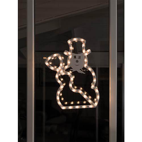 LED Fenstersilhouette Schneemann 2179-010