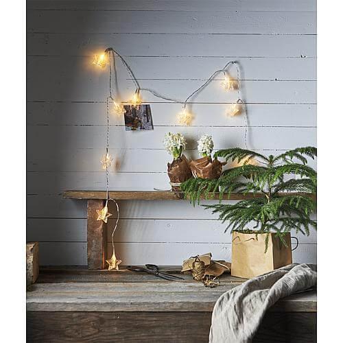 LED-Lichterkette 'Clippy Sterne' 729-12