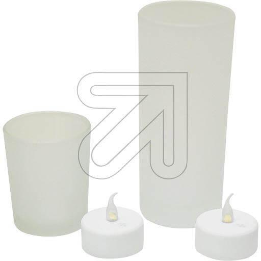 LED-Teelicht im Glas 1 flg. 6,5cm frost