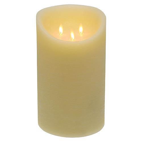 LED Kerze 3 flg. elfenbein 25cm 59368