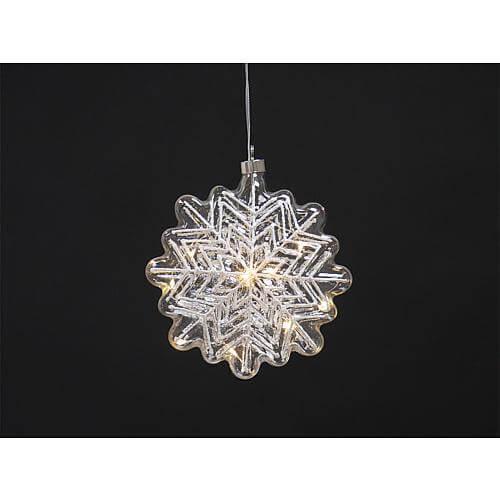 LED Glas-Schneeflocke CGS04-5070