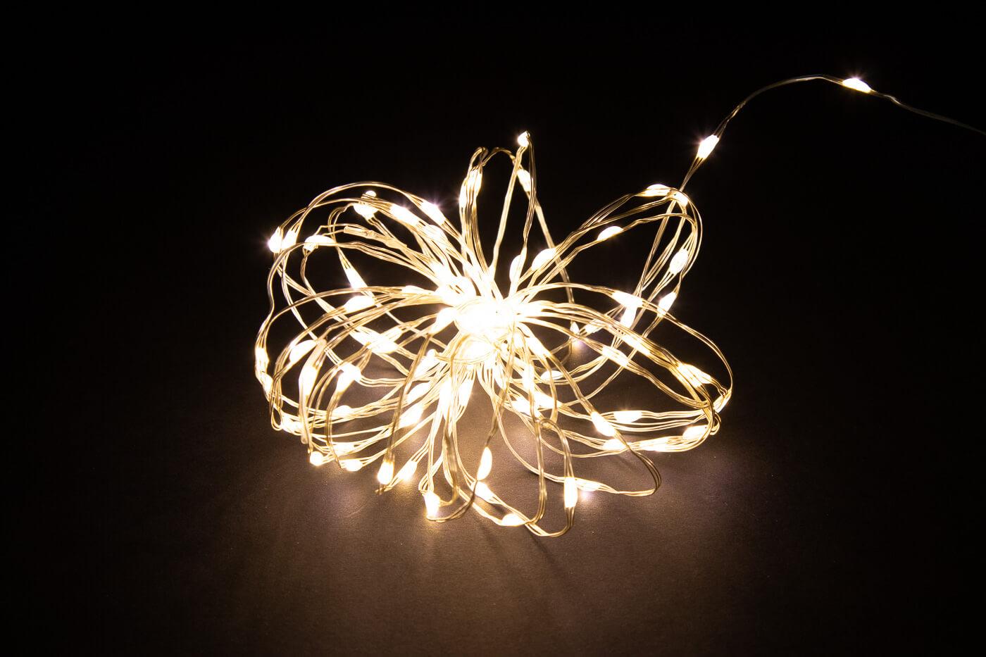 LED Microlichterkette 120 warmweiss IP44