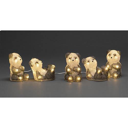LED Acryl Pandabären 5er-Set 40 ww LED außen 6234-103