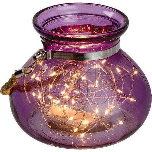 Dekoglas 40 ww LED lila 39537