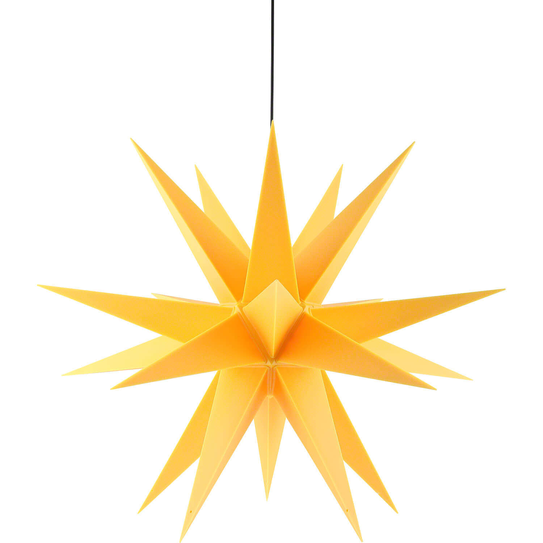 Saico WS2004 LED-Weihnachtsstern Ø 60cm gelb