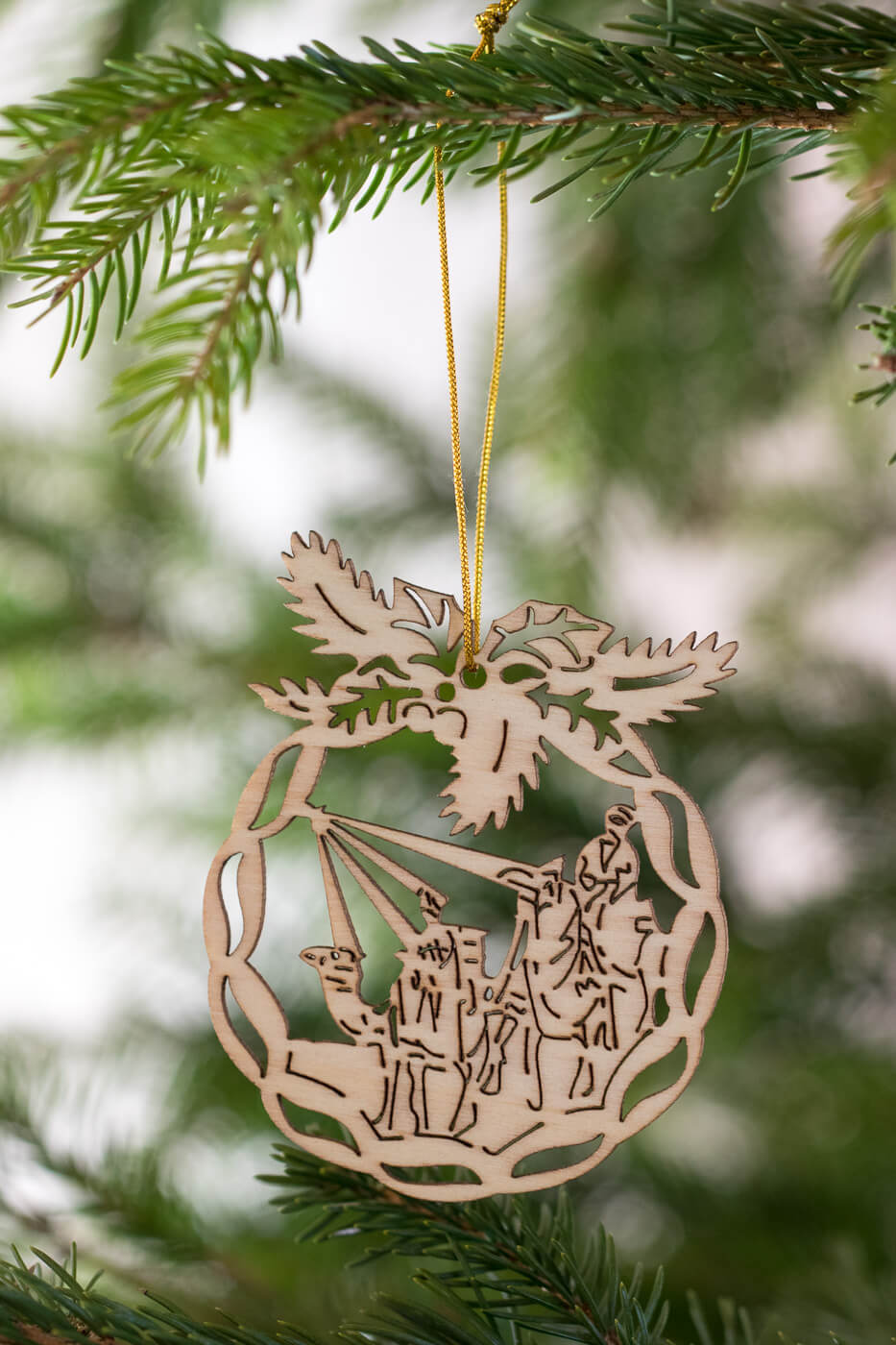 Weihnachtsbaumschmuck Orient Holz 8cm 4er Set