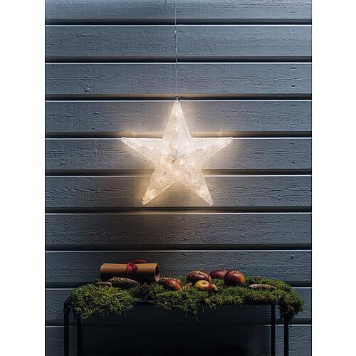 LED Acryl Stern 40 ww LED außen 4483-103