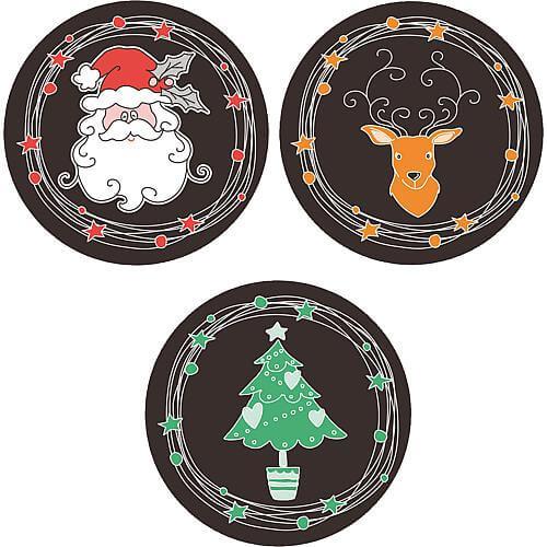 Gobo 3er-Set Weihnachtsmann-Kopf/Hirsch-Kopf/Weihnachtsbaum Lotti 46054