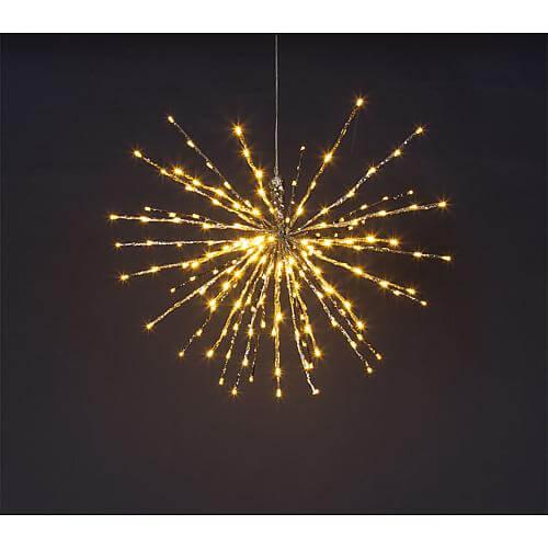 """LED-Stern """"Twig Ball"""" 200 LEDs Ø 60cm warmweiß 33252"""