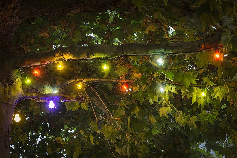 LED-Partylichterkette 10 flammig bunt Konstsmide 2378-500