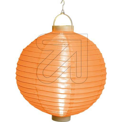 oranger LED Lampion 40cm mit warmweissen LEDs beleuchtet 38943