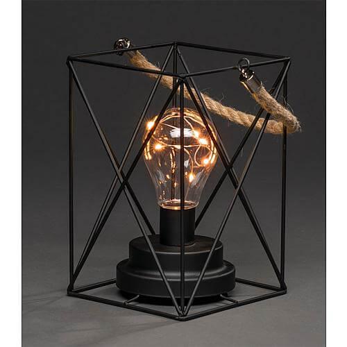 LED Metalllaterne eckig 1816-780
