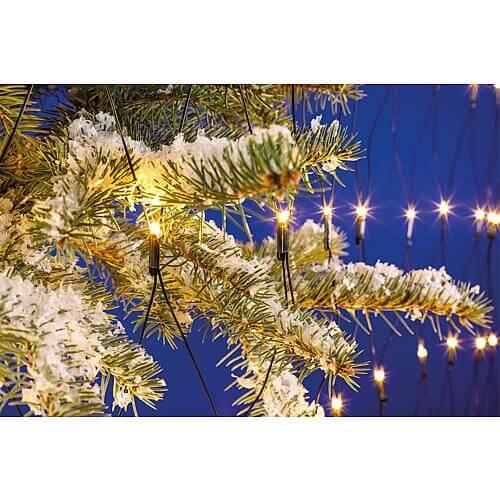 LED Lichternetz 1m x 1m 96 warmweiss