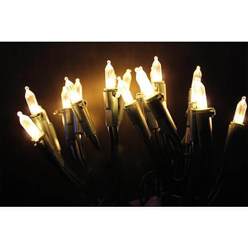 LED-Minilichterkette für innen mit 10 LEDs bernstein
