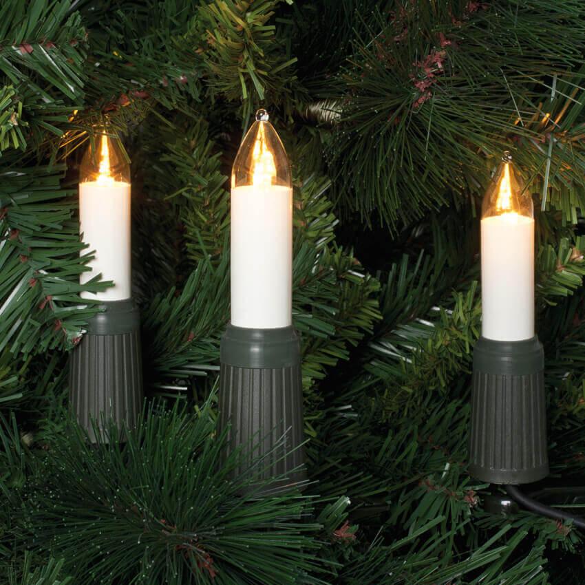 LED Schaftkerzen Lichterkette 15-tlg. E14 klar Rotpfeil 9771535901