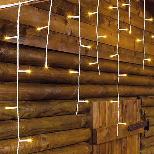LED Eisregen-Lichtervorhang 180 ww LED 33214