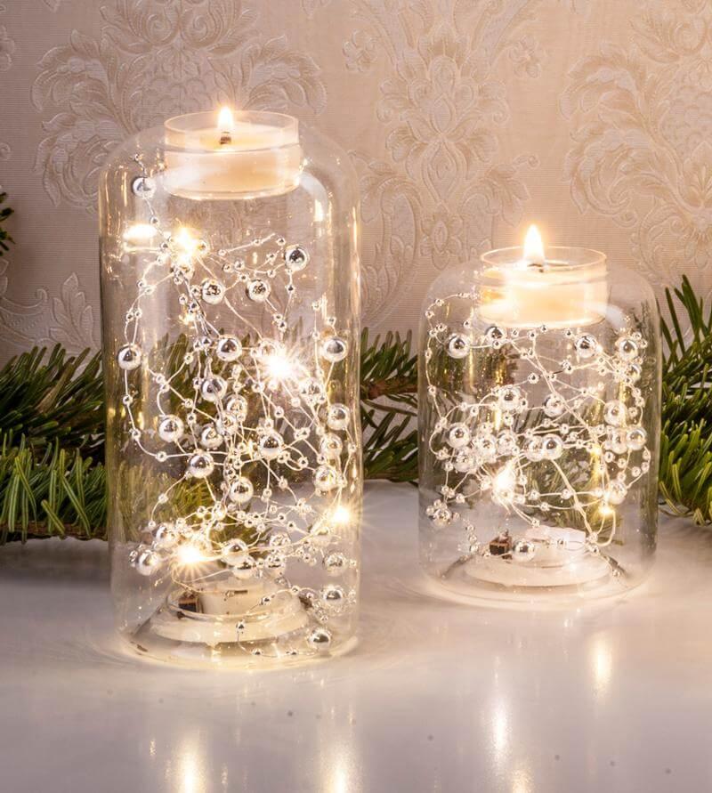 LED-Glas-Teelichthalter-Set CW04-7065
