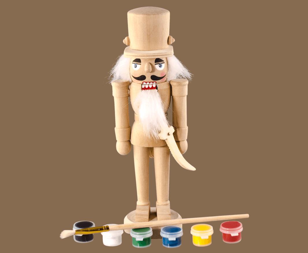Nussknacker zum bemalen - Weihnachrtsdekoration selbst gestallten