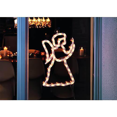 LED Fenstersilhouette Engel 2173-010
