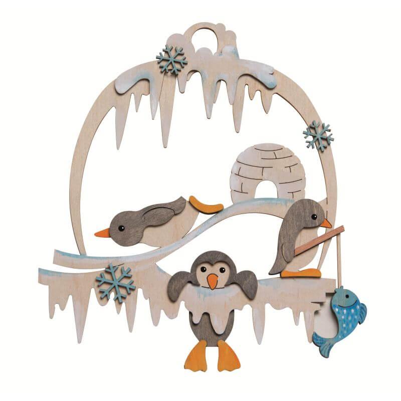 Bastelset Fensterbild Pinguin Drechslerei Kuhnert 10151