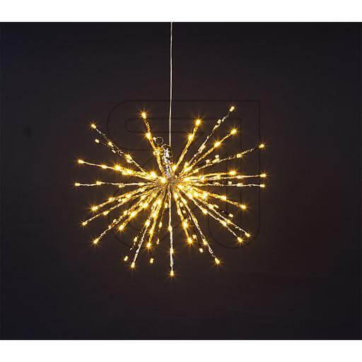 """LED-Stern """"Twig Ball"""" 80 LEDs Ø 30cm warmweiß"""