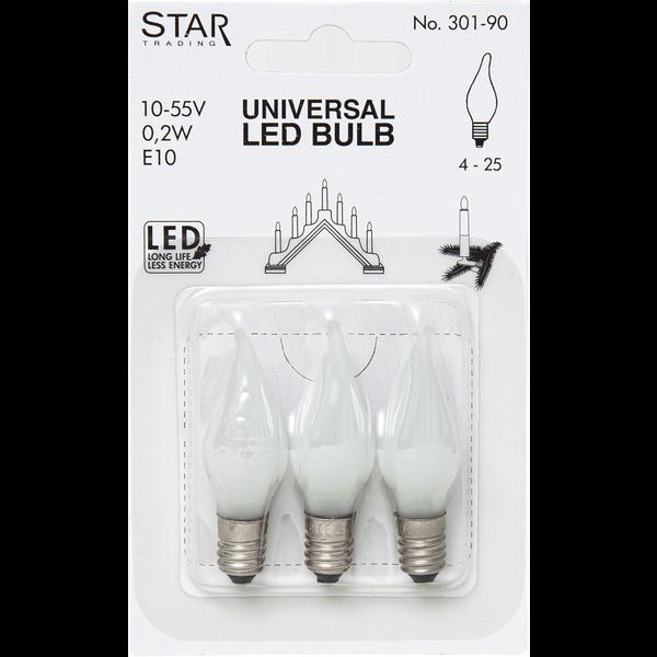 Universal Ersatz LED, E10, Tropfenform 10-55V 0,2W Best Season 301-90
