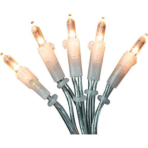 LED-Minilichterkette für innen mit 50 LEDs bernstein