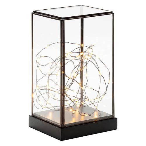 LED Glaslaterne rechteckig 1818-870
