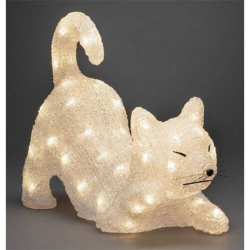 LED Acryl Katze 48 ww LED außen 6230-103