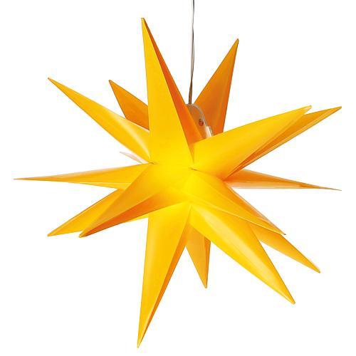 Kunststoffstern 35cm gelb Saico CAS30191